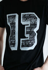 Lucky Thirteen T Shirt 13 Biker Urban Vintage Retro Punk Rock Classic Motorcycle