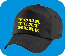 PERSONALISED BASEBALL CAP - ADD YOUR OWN TEXT - BLACK BASEBALL CAP  -   SKU0804