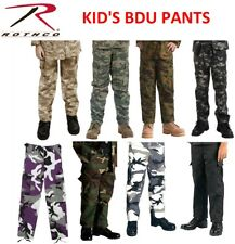 BOYS & GIRLS Kids Army Navy Air Force Marines Military BDU Cargo Fatigue PANTS
