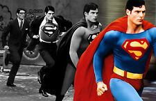 Superb retro canvas print of Christopher Reeve as Superman.