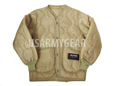 Alpha US Army Military M65 Field Jacket Coat Liner M-65 quilted Orange Tan Khaki