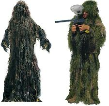 Kids Hunting Woodland Camouflage Pants & Jacket Lightweight GHILLIE SUIT
