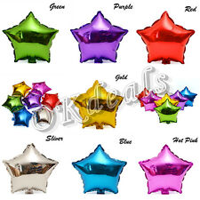 """18"""" Star Foil Helium Balloons Birthday Wedding Party Supplies Decors 7 Color NEW"""