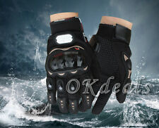 Pra-biker Motorcycle Motorbike Motocross Racing Cycling Full Finger Gloves M XL