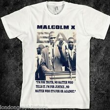 Malcolm X T-shirt, MLK, Ferguson, Mike Brown, Nelson Mandela, new, Angela Davis