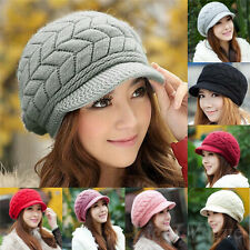 New Womens Ladies Winter Warm Knit Crochet Slouch Baggy Beanie Hat Cap 136