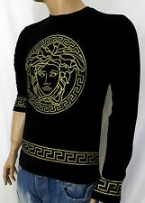 NEW WT VERSACE LONG SLEEVE BLACK T-SHIRT FOR MEN size S