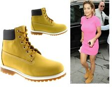 LADIES WOMENS NEW LACE UP ANKLE BOOTS CASUAL RUBBER GRIP SHOES SIZE 3 4 5 6 7 8