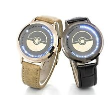 New Pokemon Pikachu Watch LED Touch Screen wrist  Pocket monster digital black