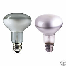 BRANDED 60w SPOT R80 REFLECTOR LIGHT BULBS BC B22 / ES E27 CAP LAMPS