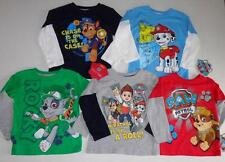 PAW PATROL Toddler Boys 2T 3T 4T 5T Long Sleeve Tee SHIRT Top Rocky Chase