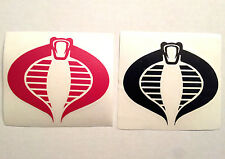 3.5 in. COBRA (GI JOE) Multi Purpose VINYL DECAL / STICKER - Choose Red or Black