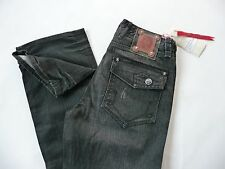 J Steger Coutre Jeans Straight Leg NWT grey/black button fly men size 32 or 34