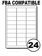 A4 Sheets 24 Printer Labels Sheet Sticky Address Barcode For Amazon FBA -