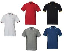 MENS Fred Perry Polo Shirt Short Sleeve TWIN TIPPED S M L XL XXL