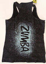 ZUMBA® Cosmic Blast Tank Black - S,M,L - The photo is the BACK of the tank