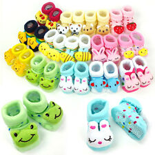 Newborn Baby Anti Slip Socks - Cute Kids Infant Boy Girl Warm Shoes 0-6mth -NEW