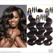 100% 6A unprocessed Virgin Brazilian Human Hair Extensions Body Wave USA Stock