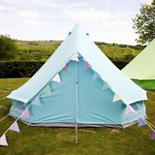 Sky Blue Bell Tent With Zipped in Ground Sheet