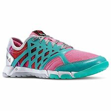 Reebok ONE TRAINER 2.0 GR Women's M44518 Pink/Teal/Sil/Wh Training Shoe size 8