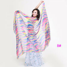 New Belly Dance Costume Gradient Color Silk Shawl Veil 250*120cm 5 colours