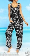 NEW LADIES WOMANS HOLIDAY SUMMER BEACH ONESIE JUMPSUIT TOP TROUSERS SHORTS