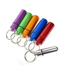Aluminum Pill Box Case Bottle Cache Drug Holder Keychain Container Waterproof