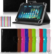 """Quality Leather Case Cover/Pen For 10.1"""" VISUAL LAND PRESTIGE Android Tablet WN8"""