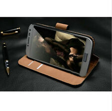 Luxury Genuine Real Leather Flip Case Wallet Cover For Samsung iphone4/5/6 6plus