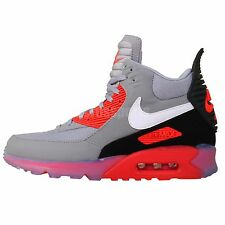 Nike Air Max 90 Sneakerboot Ice Grey Infrared 2014 Winter Mens Casual Shoes