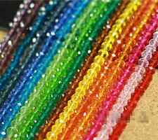 Wholesale 100Pcs New 12 Colors Swarovski Crystal Loose Beads 4mm Free Ship
