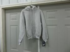 RUSSELL ATHLETIC GRAY SPORTS HOODIE HOODED SWEAT WORKOUT SHIRT SZ S M NEW