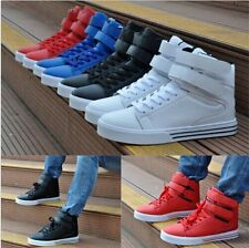 Men's High Top Sport Sneakers Velcro Ankle Boots Casual Lace up Athletic Shoes