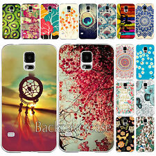 For Samsung Galaxy S4 S5 Protector Hot Painted Pattern Hard Back Skin Case Cover
