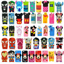 Hot 3D Cartoon Comic Film Rubber Case Cover Super Hero for iPhone Samsung Galaxy