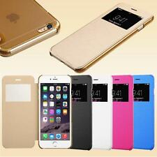New Flip Leather Wallet View Window Skin Case Cover for iPhone 4S 5S 6 / 6 PLUS