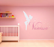 Custom Baby Name Wall Sticker Personalized Angle Nursery Wall Decal with Stars