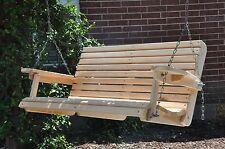 4' Cypress Porch Swing Wood Wooden Outdoor Furniture