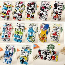 Cute Cartoon Disney Crystal Clear Relief Hard Case Cover for iPhone 6 Plus 6 5S