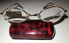 Folding Compact Reading Glasses Case Ready Fold Reader Gold +3.25 w Defects