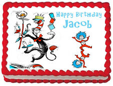 CAT IN THE HAT Edible image Cake topper Frosting sheet