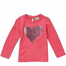 TOM TAILOR GIRLS PRETTY SWEATSHIRT JUMPER HEART & BOW DETAIL PINK OR GREY  BNWT