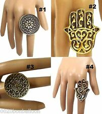 EGYPTIAN RING BELLY DANCE GYPSY JEWELRY TRIBAL ORIENTAL WITH ANTIQUE LOOK   104