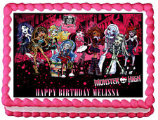 MONSTER HIGH Edible image Cake topper Party decoration