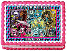 MONSTER HIGH Birthday Edible image Cake topper