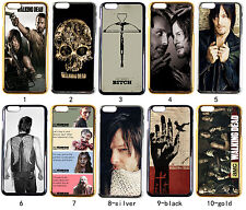 Bright Gold Silver Black The Walking Dead for iPhone 4/4S 5/5S 5C 6 6 Plus case
