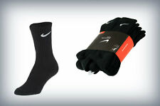NIKE MENS 6 PACK BAND COTTON CREW SOCKS Black/White -SX4441 001- sz L 8-12