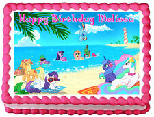 MY LITTLE PONY Magic Edible image Cake topper design