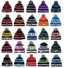 NFL Football Beanies New Era The Coach Pom Top Knit Hat Adult Size