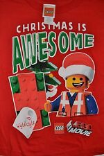 Lego Movie Emmet T-Shirt Boys Tee Christmas Is AWESOME Officially Licensed